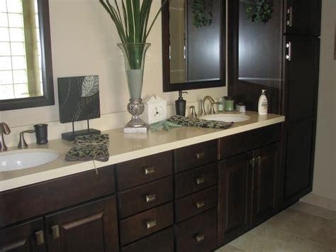 Espresso Bathroom Cabinets by Ceasar With Espresso Cabinets From Designer Homes