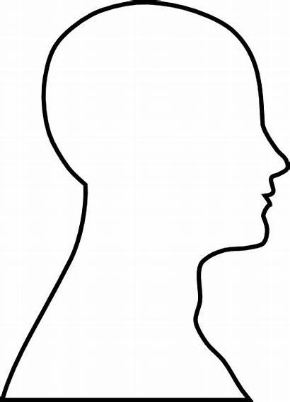 Outline Head Clip Face Blank Clipart Vector
