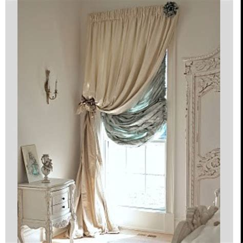 shabby chic curtains and blinds double curtain rods for the home pinterest double curtain rods double curtains and shabby