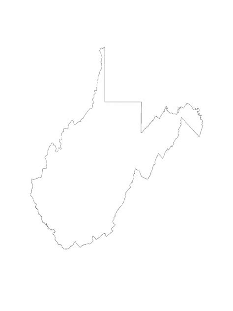 west virginia map template   templates   word
