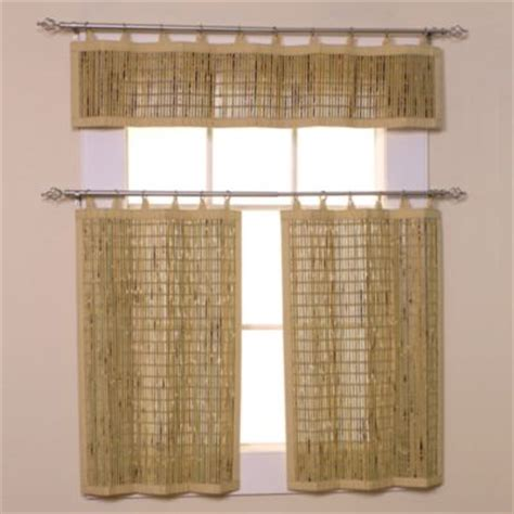 Beaded Curtains Bed Bath And Beyond by Easy Glide All Bamboo 24 Inch Ring Top Window