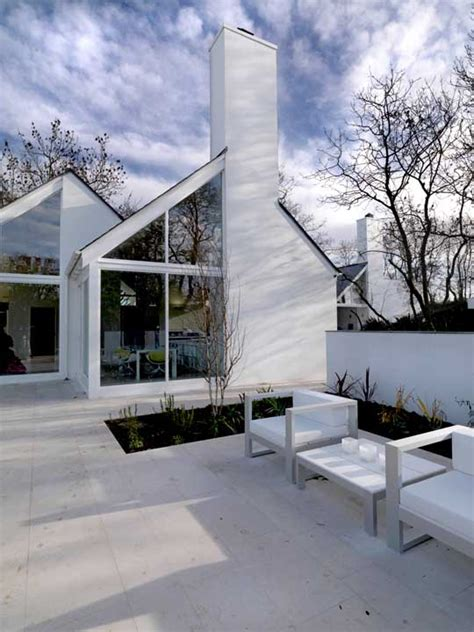 origami house irish rural property  architect