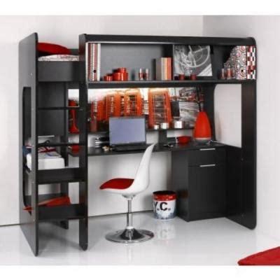 lit 2 places sureleve lit mezzanine avec bureau et rangements lits mezzanines pour gagner de la place lits