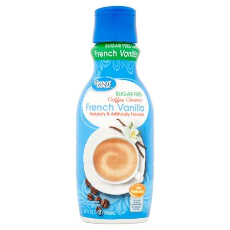 Target does not represent or warrant that the nutrition, ingredient, allergen and other product. Great Value Sugar Free French Vanilla Coffee Creamer, 32 ...
