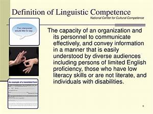 PPT - Cultural ... Competent Definition