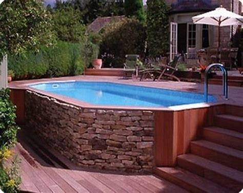 awesome  ground pool deck designs