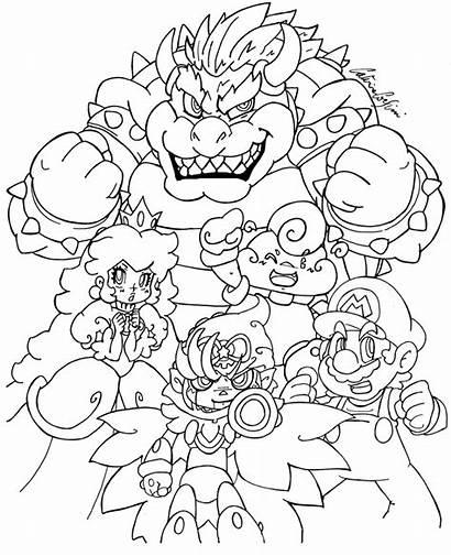 Mario Super Rpg Lineart Deviantart