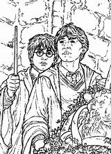 Potter Harry Chamber Secrets Fun Coloring Pages sketch template