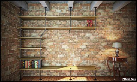 Desk And Shelves Desktop Wallpaper