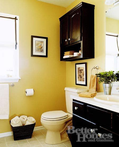 Bathroom Decor Yellow Walls