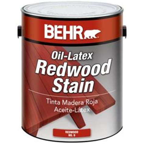 Behr Oil Latex Redwood Stain Home Depot