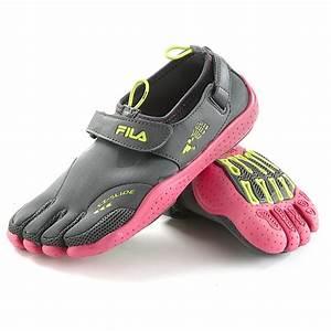 Womenu002639s Filau00ae Skele Toes Ez Slide Shoes Gray Fuschia