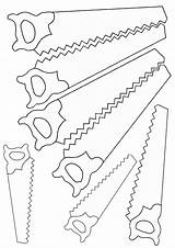 Saw Coloring Saw4 sketch template