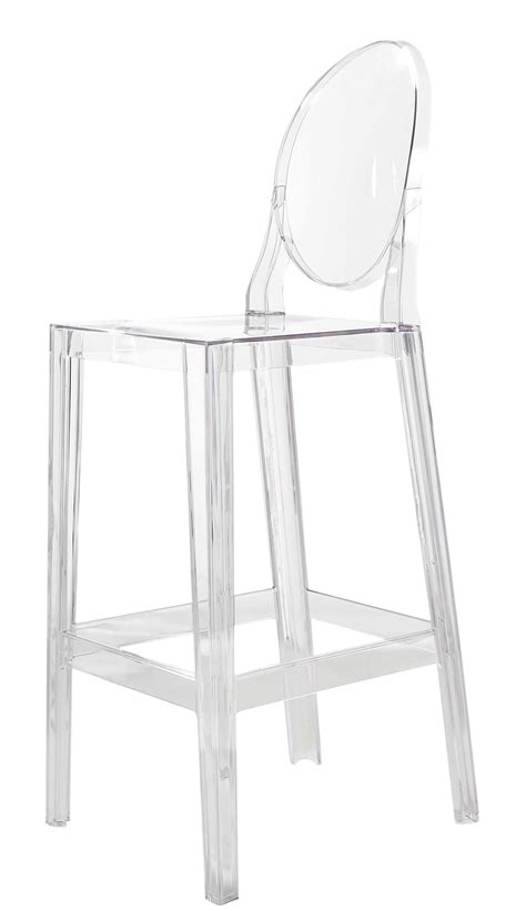 chaise cristal one more bar chair h 65cm plastic cristal by kartell