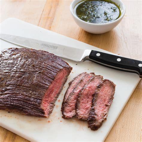 what is flank steak paleo seared flank steak with chimichurri sauce america s test kitchen