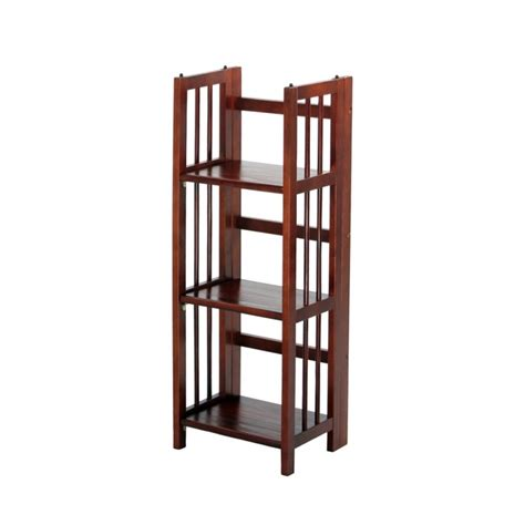 target mission folding bookcase 3 tier stackable mission style folding bookcase 14 quot wide