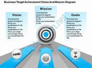 Business Target Achievement Vision And Mission Diagram