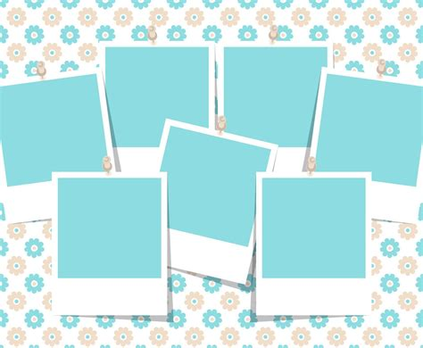 beautiful photo collage template vector art graphics