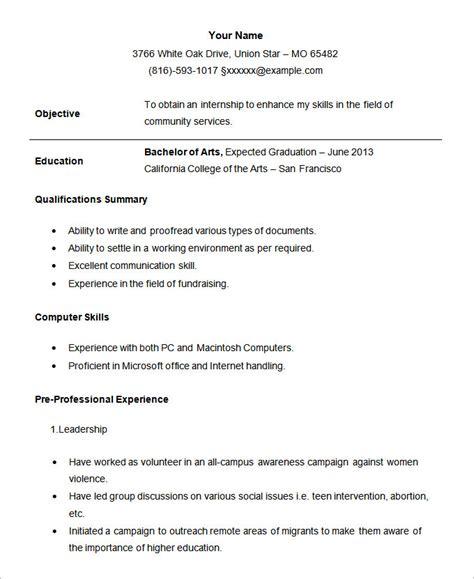 Resume For Internship Template by 24 Student Resume Templates Pdf Doc Free Premium