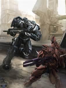 Halo Elite and Spartan Fan Art
