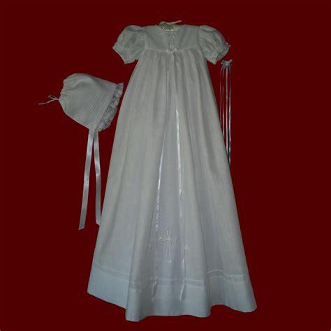 Unisex Embroidered Cross Irish Christening Gown - Irish Boy Rompers u0026 Gowns - Smocked Treasures