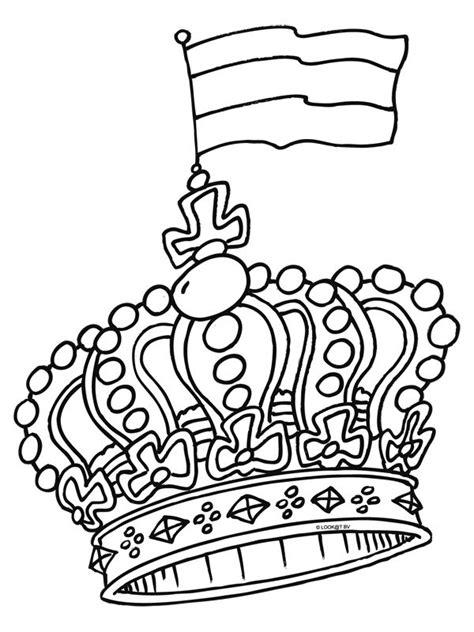 Koningsdag Kleurplaat by Kleurplaat Kroon Zoeken School Thema