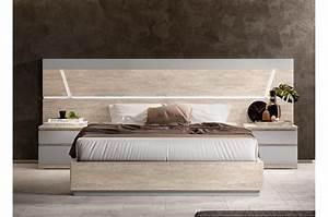 Lit 1 Place Adulte : lit avec sommier et coffre de rangement 160 x 200 ~ Nature-et-papiers.com Idées de Décoration
