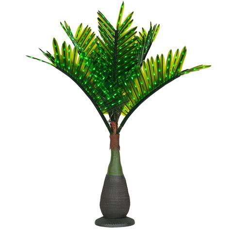 lighted palm trees  led bottle palm tree natural green