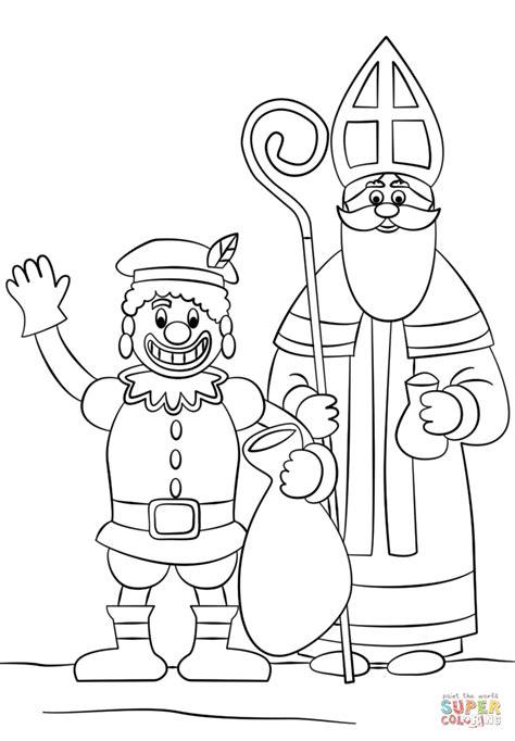 Kleurplaat Sinterklaas by Kleurplaat Zwarte Piet
