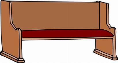 Pew Church Clipart Pews Clip Bench Aisle
