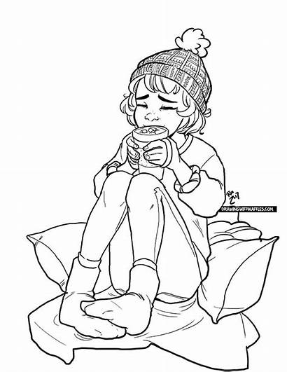 Drawing Waffles Wiff Drawings Lineart Coloring Drawingwiffwaffles