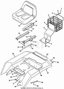 Gravely 50120 14hp  Without Hydraulic Lift Parts Diagram For Rear Deck And Seat