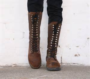 womens boots vintage vintage buffalo boots lace up hiking womens 9 canvas
