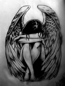 Dessin D Hirondelle Pour Tatouage : tatouage ange signification et id es de mod les originaux ~ Melissatoandfro.com Idées de Décoration