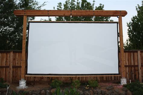 Backyard Theater Screen by New Frame And Screen Backyard Theater Forums Outdoor