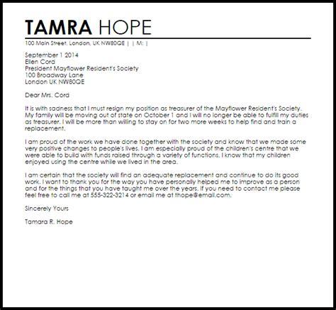 club resignation letter resignation letters livecareer