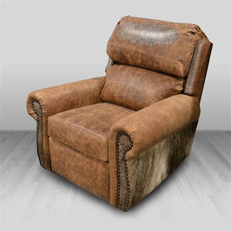 durango bustleback wing recliner cowhide western furniture
