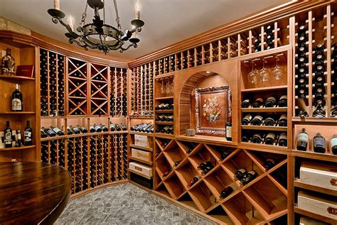 custom wine cellar tasting room photo gallery design