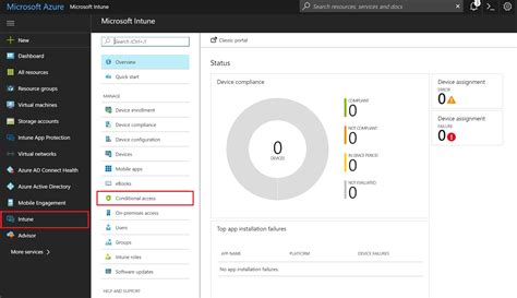 Office 365 Portal Azure by How To Configure Microsoft Intune Azure Ad Conditional