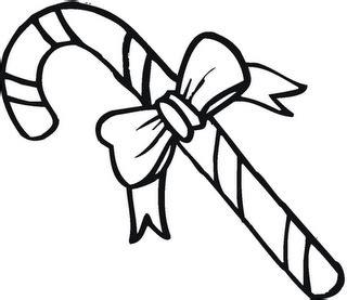 Dibujos para imprimir y colorear: Bastones de navidad para