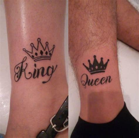 adorable king  queen tattoos  couples