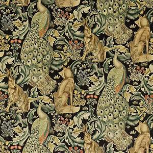 Forest Fabric - Charcoal (222535) - William Morris & Co