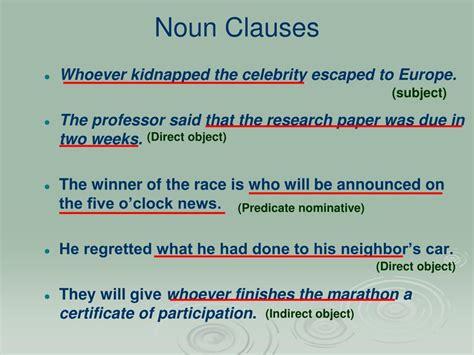 Noun clause adalah dependent clause yang berfungsi sebagai noun (kata benda). Noun Clause As A Predicate Nominative Examples - defitioni