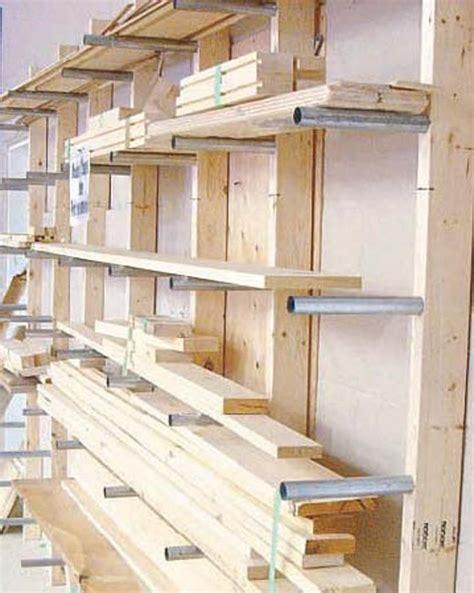lumber rack rangement atelier amenagement atelier