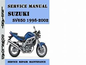 Suzuki Sv650 1998-2002 Service Repair Manual Pdf Download