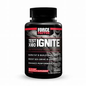 Force Factor Test X180 Ignite Free Testosterone Booster To Build Muscle   Bur    996079003519