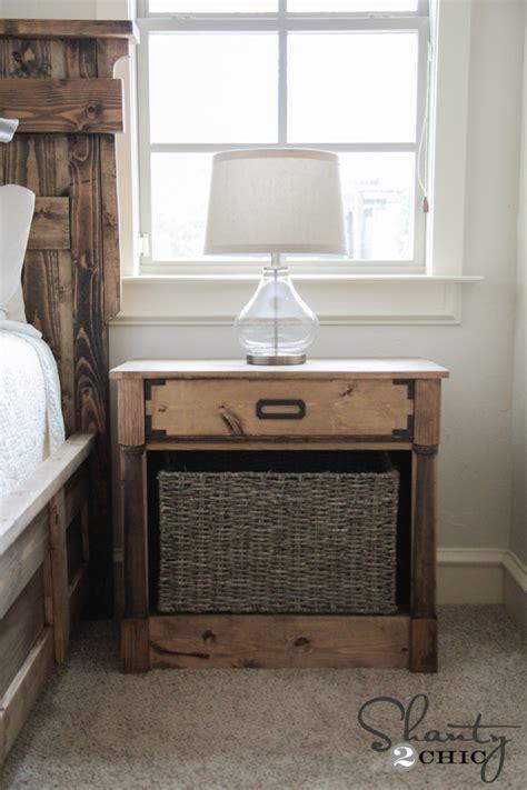 diy nightstands  woodworking plans shanty  chic