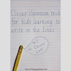 Learn With Play At Home Clever Classroom Trick For Kids Learning To Write In The Lines