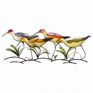 Shop woodland imports 39 in w x 14 in h frameless metal for What kind of paint to use on kitchen cabinets for wire bird wall art