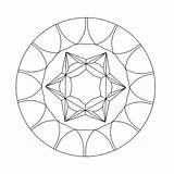 Kaleidoscope Coloring Printable Pages sketch template